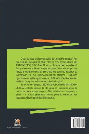 Livro Linguagem, poder e ensino da língua