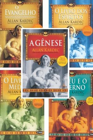 Livro Coletânea 5 Obras Básicas Allan Kardec